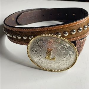 Nocona Buckle Leather Belt